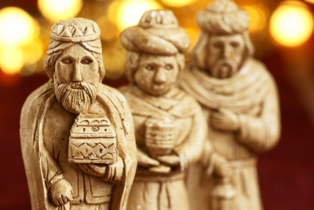 Three wise men from nativity scene photo