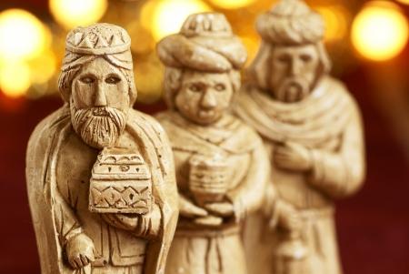 reyes magos: Tres hombres sabios del belén Foto de archivo