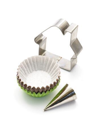 cookie cutter: Icing tube, cupcakes and cookie cutter.