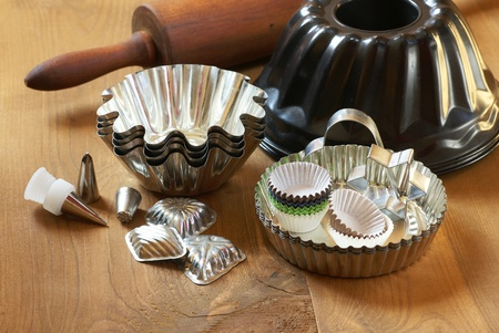 Cooking utensils ready for baking photo