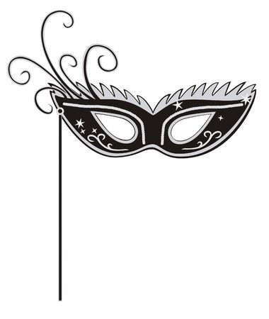 masquerade mask: Vector illustration of black masquerade mask on white background