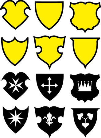 Vector set of coats of arms. Vector