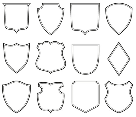 Sammlung von Wappenschild Formen