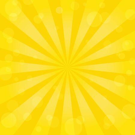 sunburst: Sunburst background with bokeh Illustration