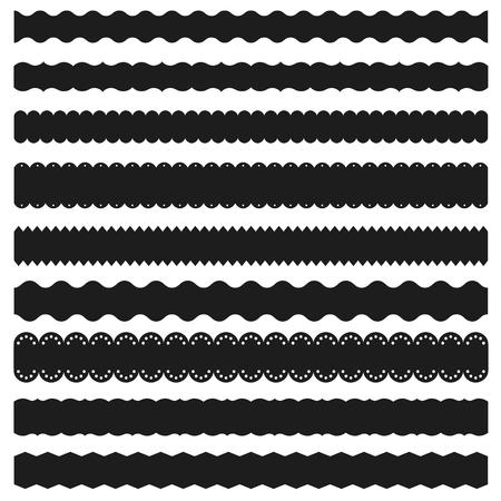 Reihe von dekorativen Bändern und Grenzen Standard-Bild - 50321533