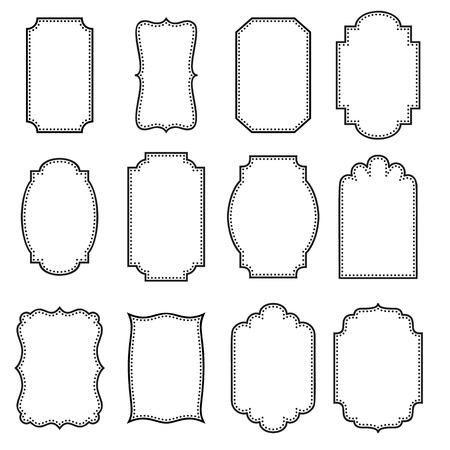 Conjunto de bastidores verticales de la vendimia.