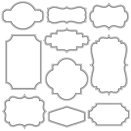 Set of decorative vintage frames 版權商用圖片 - 50321537
