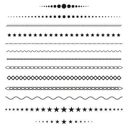 Verzameling van vector verdelers Stock Illustratie