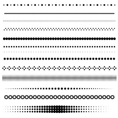 ドットとハーフトーンの区切り線の設定  イラスト・ベクター素材