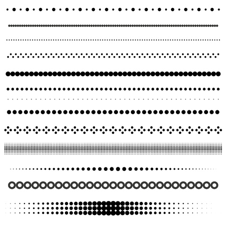 Set of dot and halftone dividers
