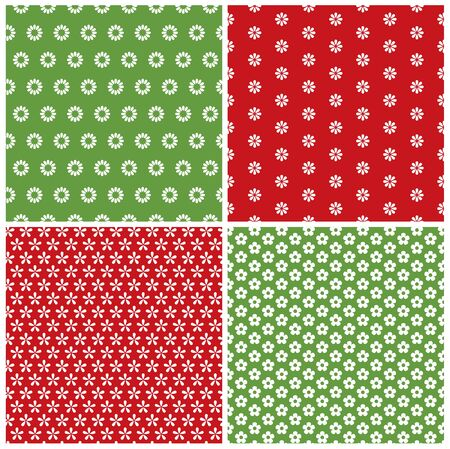 flower patterns: Collection of flower seamless patterns