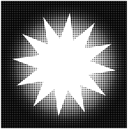 star background: Halftone background with star shape copy space