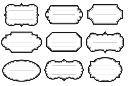 Verzameling van eenvoudige uitstekende etiketten