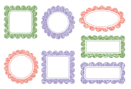 scalloped: Set of scalloped frames
