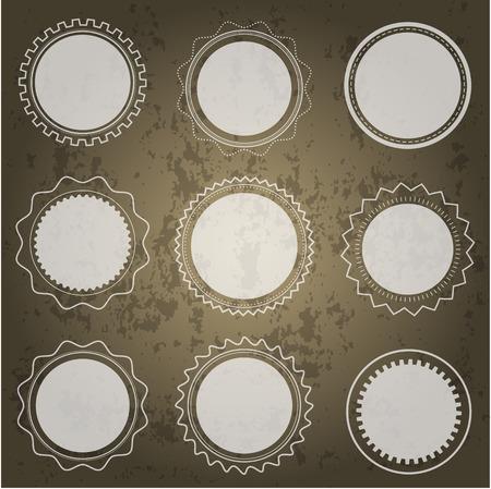 Set van ronde transparante vormen op donkere achtergrond