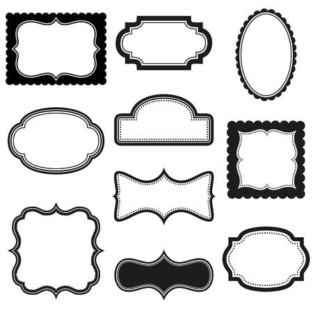 petoncle: Collection de vecteur cadres décoratifs Illustration