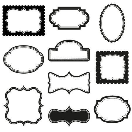 scalloped: Collection of vector decorative frames Illustration