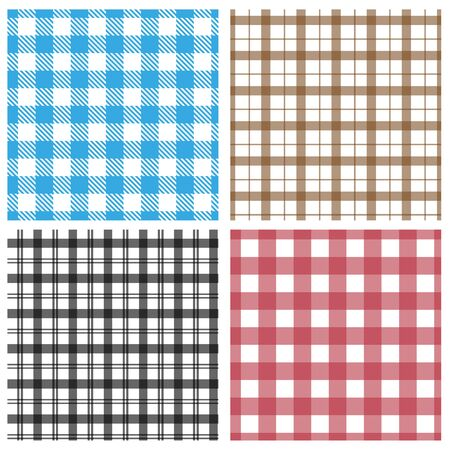 gingham pattern: Gingham pattern collection Illustration