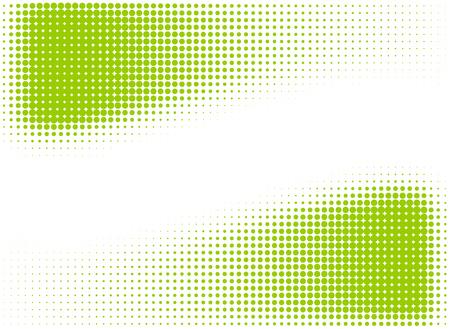 녹색 하프 톤 프레임 또는 디자인 요소 일러스트