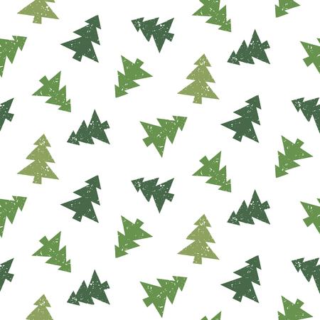 Christmas tree vector seamless pattern Ilustração
