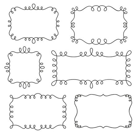 Collection of decorative loop frames Фото со стока - 50321995