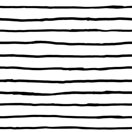 horizontal lines: Seamless pattern - ink horizontal lines