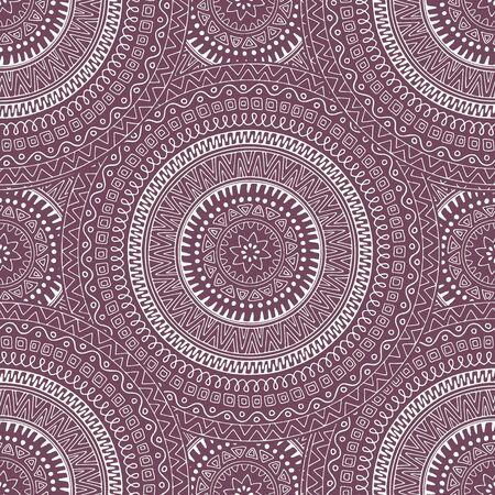 sketched shapes: Decorative circle mandala - seamless pattern