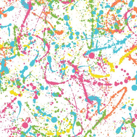 Colorful splatters - vector seamless pattern Ilustracja