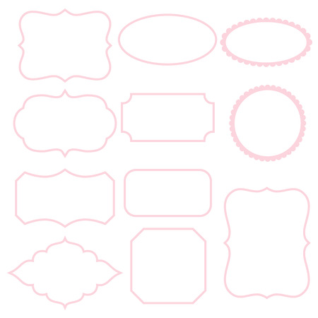 White Frames With Pink Stroke Royalty Free Cliparts, Vectors, And ...