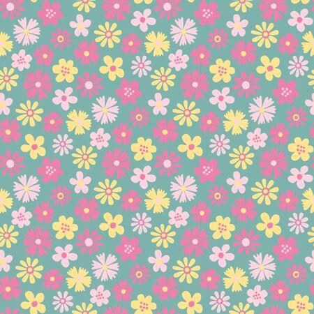 seamless pattern: Meadow flower seamless pattern