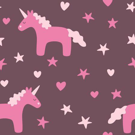 seamless pattern: Dreamy unicorn seamless pattern