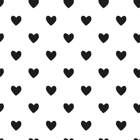 Coeurs noirs seamless pattern Banque d'images - 60183012