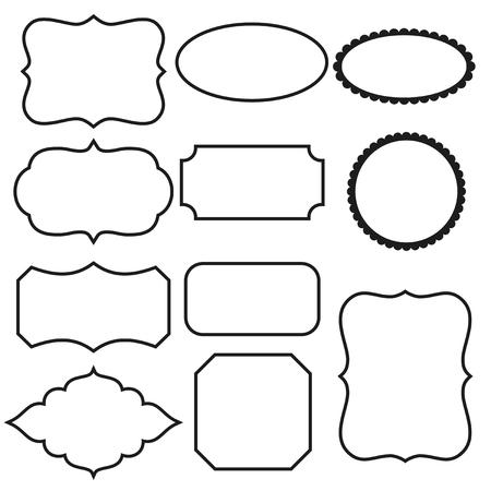 Black and white decorative frames