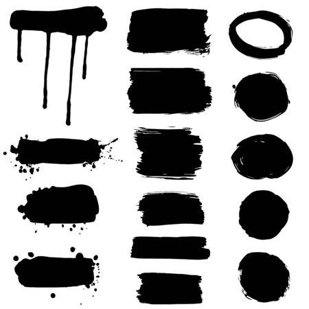 Collection of ink splatters - frames Illustration