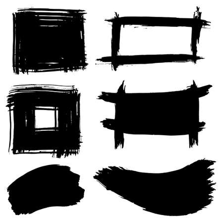 Collection of ink frames and backgrounds