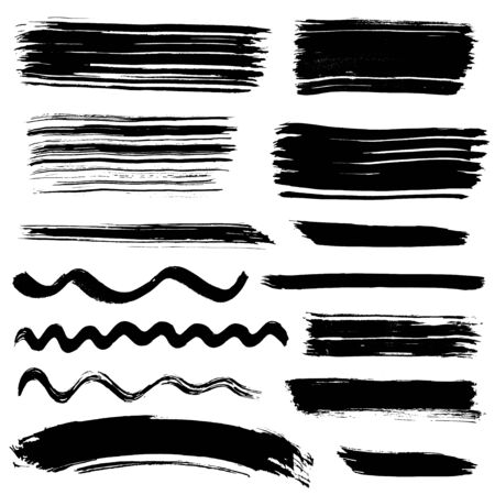 Collection of ink brush drawings
