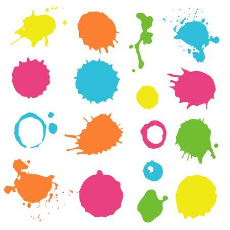 Colorful ink splashes