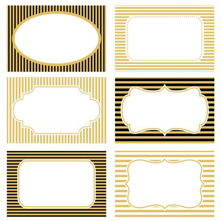 black gold: Collection of vintage frames with background