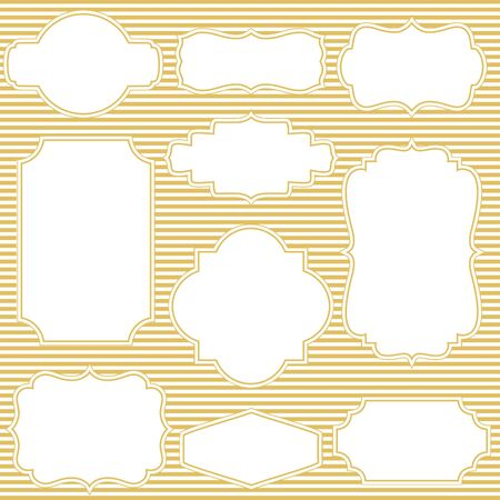 Collection of frames with stripe background