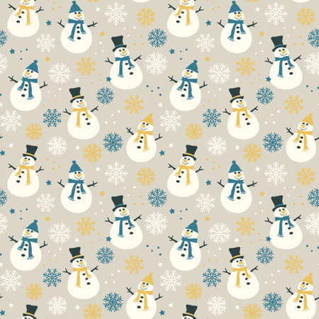 Snowflakes and snow - seamless pattern