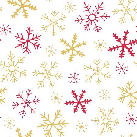 Holiday snowflake seamless pattern