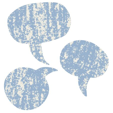 though: Set of speech bubbles with texture
