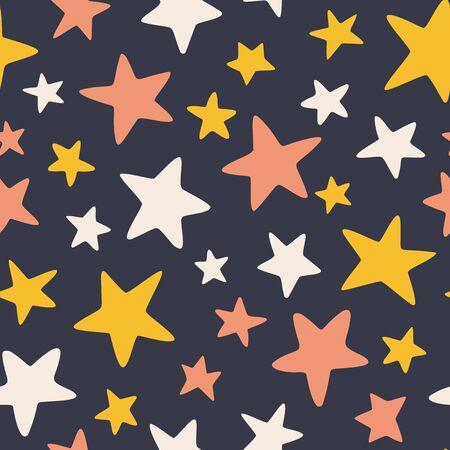 Big stars - seamless pattern