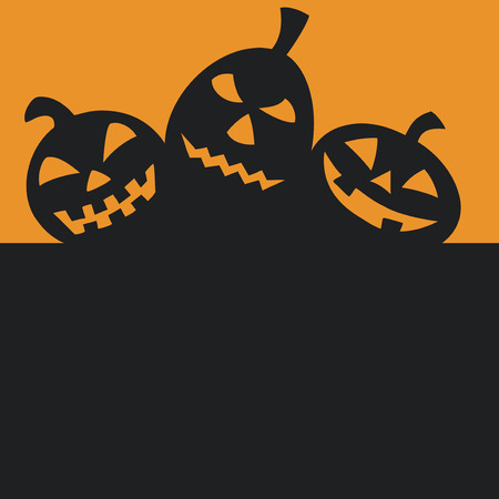 Halloween pumpkins with black copy space