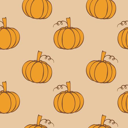 Autumn background - pumpkin seamless pattern Illustration
