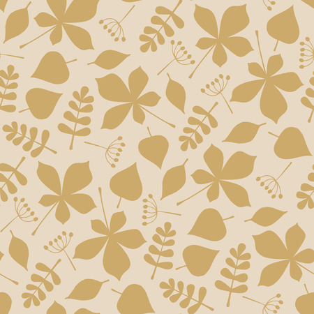 Autumn leaves background - seamless pattern