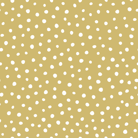 holiday background: Holiday pattern - snow on golden background Illustration