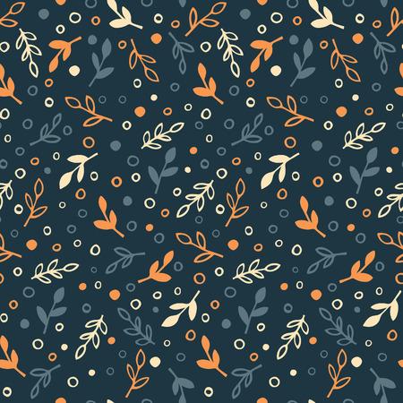 Simple autumn background - seamless pattern