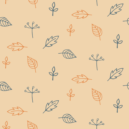 Autumn leaves - vector seamless pattern