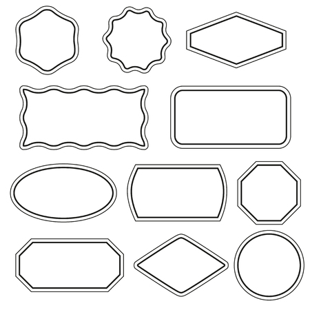 simple: Collection of simple vector frames